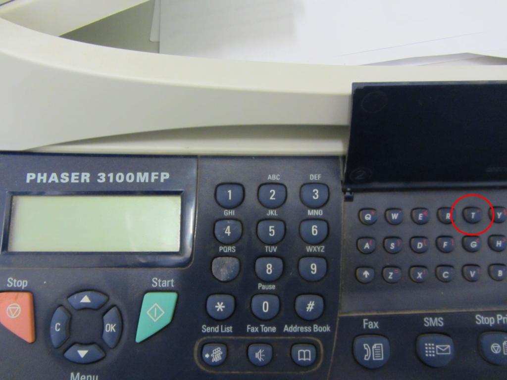Клавиатура Xerox с факсом