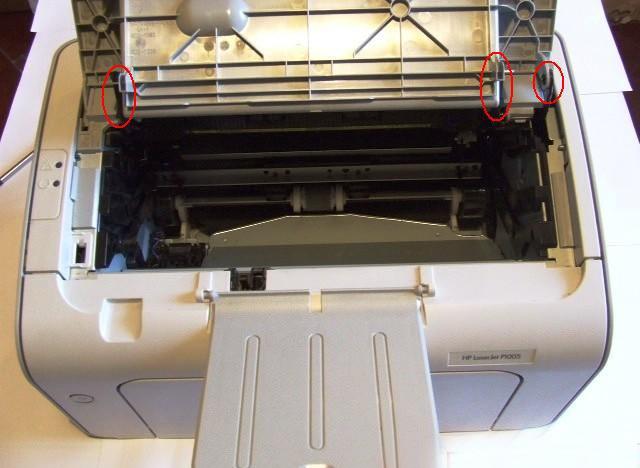 Переворачиваем принтер вверх